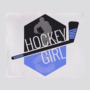 hockeygirl copy copy Throw Blanket