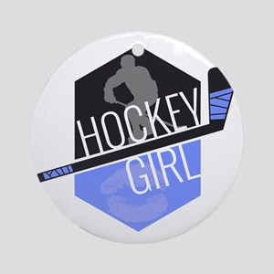 hockeygirl copy copy Round Ornament