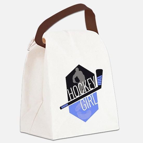 hockeygirl copy copy Canvas Lunch Bag