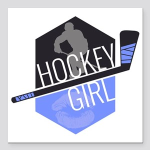"hockeygirl copy copy Square Car Magnet 3"" x 3"""