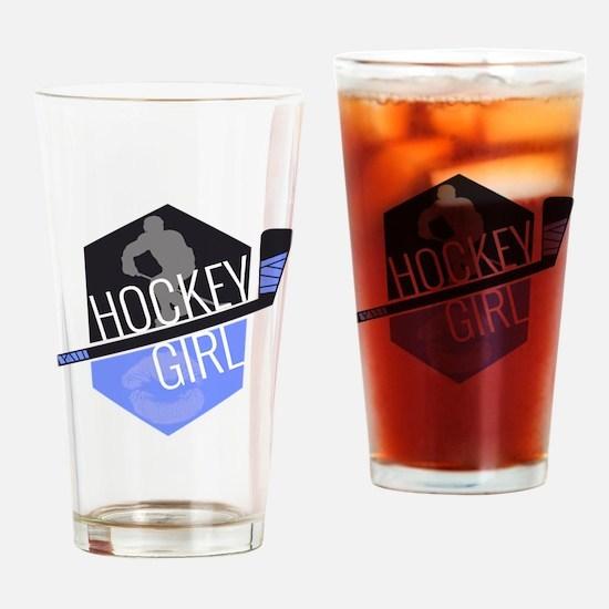hockeygirl copy copy Drinking Glass