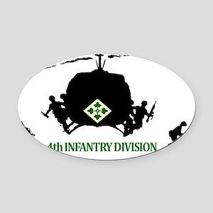 4th INFANTRY DIVISION Oval Car Magnet