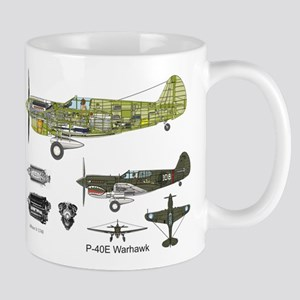 P-40 Warhawk Flying Tigers Mugs