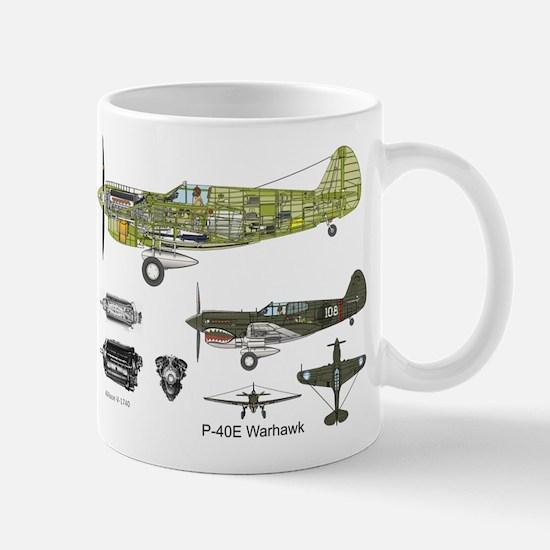 P-40 Warhawk Flying Tigers Mugs
