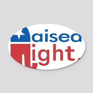 Raised Right Oval Car Magnet