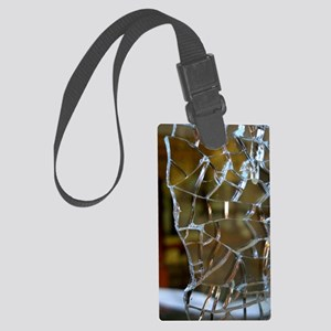 Cracks Large Luggage Tag