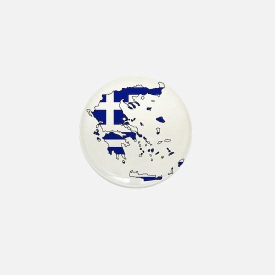 Greek Flag Map Mini Button