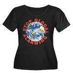 Stop Global Alarming Wmns Plus Sz Scoop Neck T