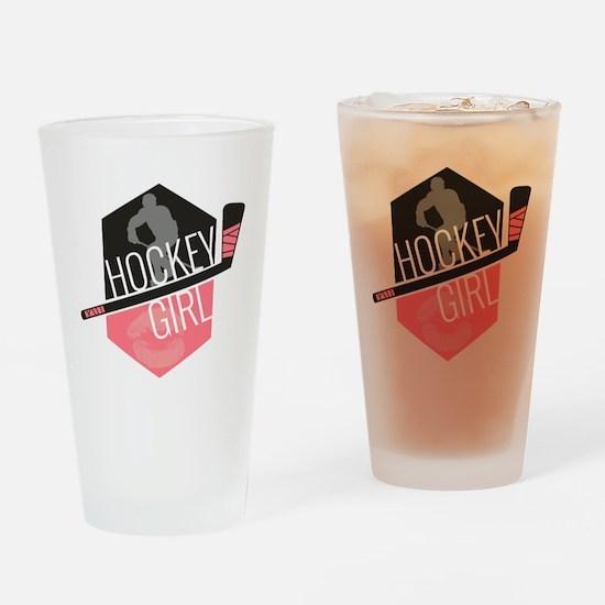 hockeygirl copy2 Drinking Glass