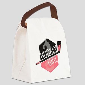hockeygirl copy2 Canvas Lunch Bag