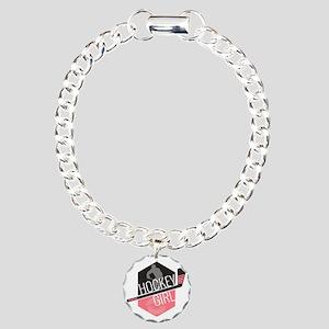 hockeygirl copy2 Charm Bracelet, One Charm