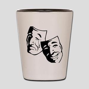 Comedy/Tragedy Masks Shot Glass