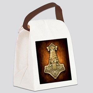 Gold Thors Hammer Canvas Lunch Bag