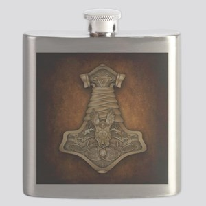 Gold Thors Hammer Flask