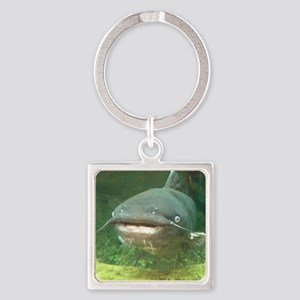 Curious Catfish Square Keychain