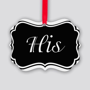 His and Hers Pajamas Picture Ornament