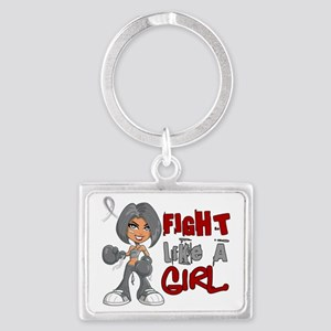 D Parkinsons Disease Fight Like Landscape Keychain