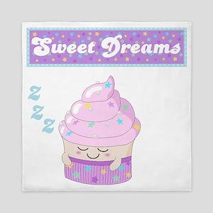 Sweet Dreams Sleeping cupcake Queen Duvet