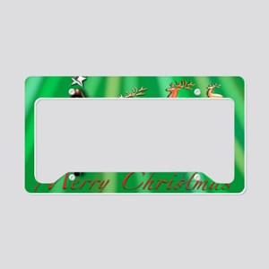 Xmas Reindeers Merry Christma License Plate Holder