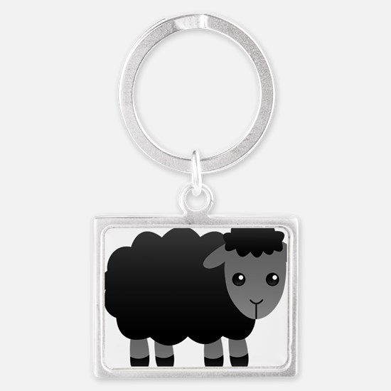 black sheep Landscape Keychain