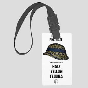 Half Yellow Fedora Large Luggage Tag