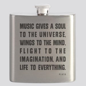 MUSIC GIVES A SOUL TO THE UNIVERSE Flask