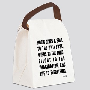 MUSIC GIVES A SOUL TO THE UNIVERS Canvas Lunch Bag