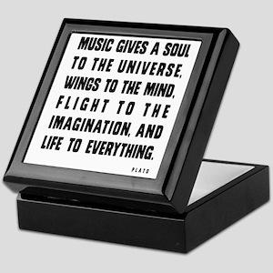 MUSIC GIVES A SOUL TO THE UNIVERSE Keepsake Box