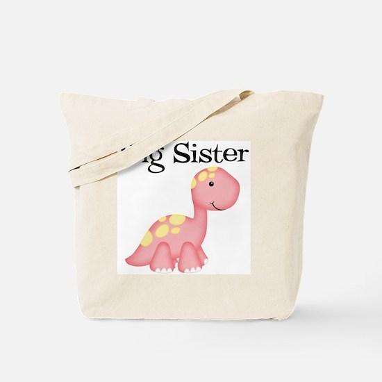 Big Sister Dinosaur Tote Bag