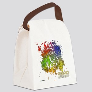 Colour Explosion Canvas Lunch Bag