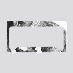 African Elephants Pillow Case License Plate Holder