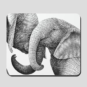 African Elephants Pillow Case Mousepad