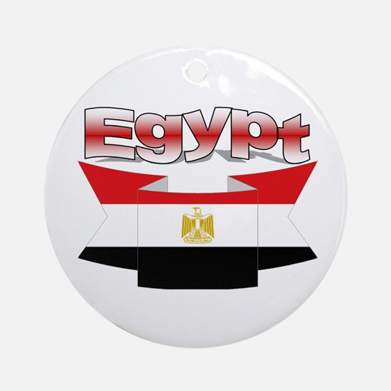 The Egypt flag ribbon Ornament (Round)