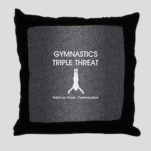 gymnasticstriplemsq Throw Pillow