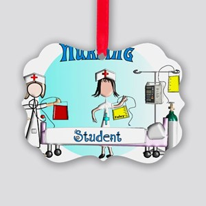 Nursing student bag 2 Picture Ornament