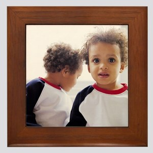 Identical twin boys Framed Tile