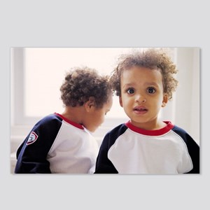 Identical twin boys Postcards (Package of 8)