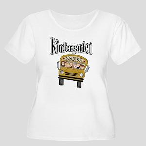 School Bus Kindergarten Women's Plus Size Scoop Ne