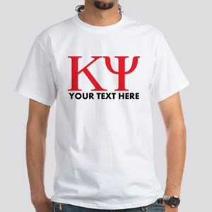 Kappa Psi Letters Personalized White T-Shirt