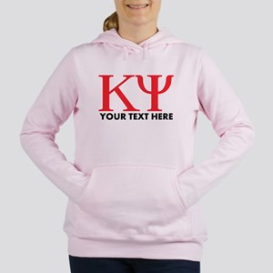 Kappa Psi Letters Person Women's Hooded Sweatshirt