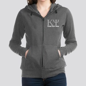 Kappa Psi Letters Personalized Women's Zip Hoodie