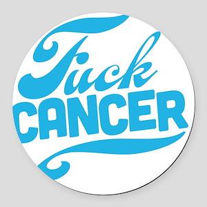 Fuck Cancer Round Car Magnet