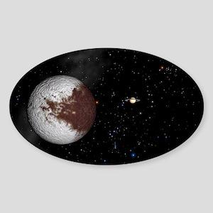 Iapetus and Saturn Sticker (Oval)
