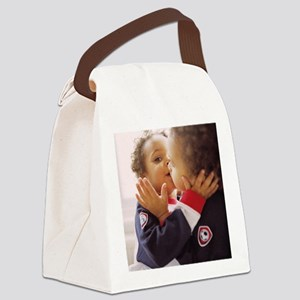 Identical twin boys Canvas Lunch Bag