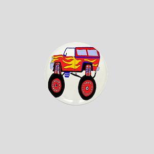 Monster Truck Mini Button