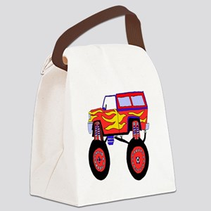 Monster Truck Canvas Lunch Bag