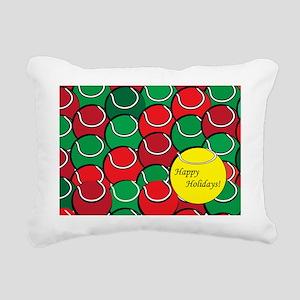 Tennis Holiday Rectangular Canvas Pillow