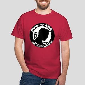 Round POW-MIA Symbol Dark T-Shirt