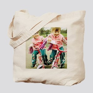Identical twin girls Tote Bag