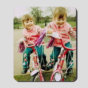 Identical twin girls Mousepad